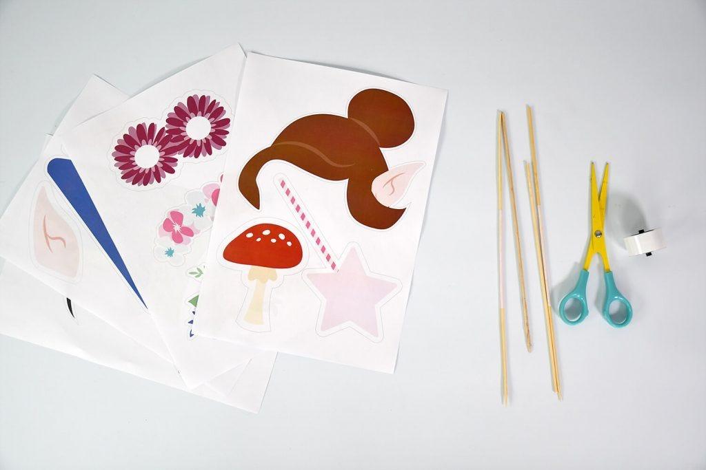 ¡Para que las fotos de la fiesta de cumpleaños de sus hijos sean las más bonitas, haga su propio kit fotomatón de hadas y el bosque!