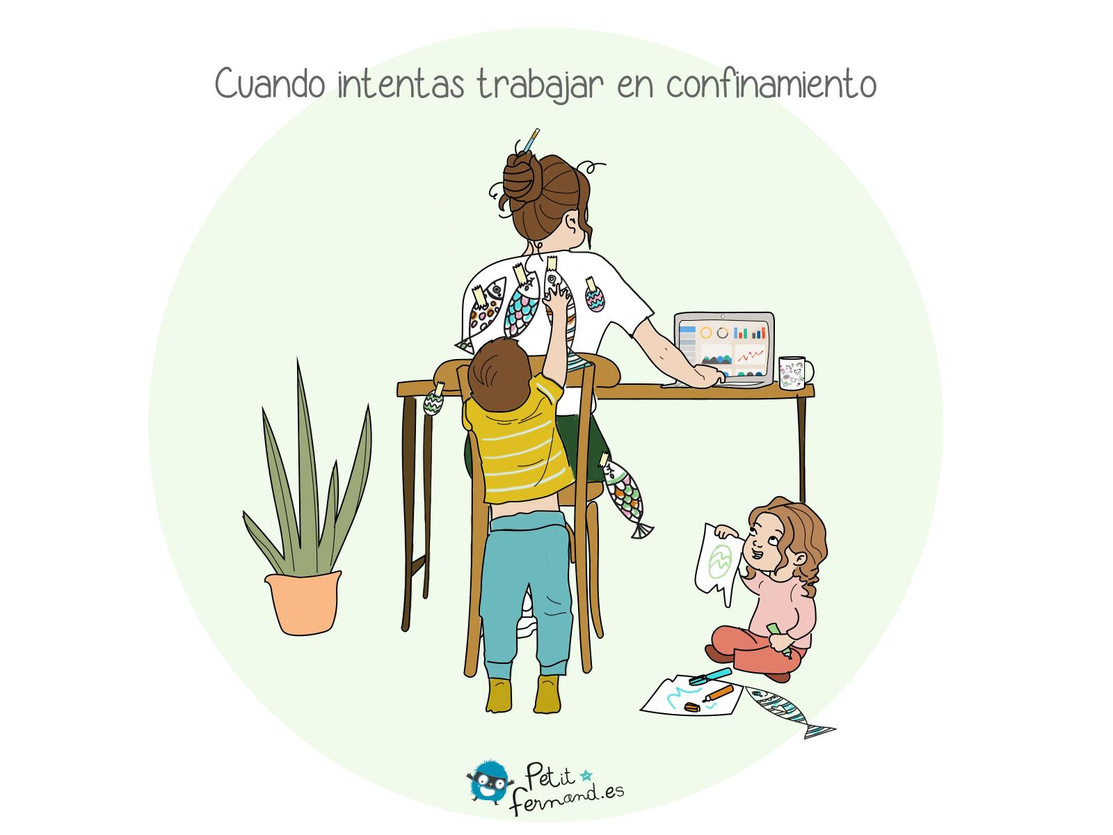 : Todos los padres ahora saben que trabajar en remoto no es compatible con cuidar los niños!