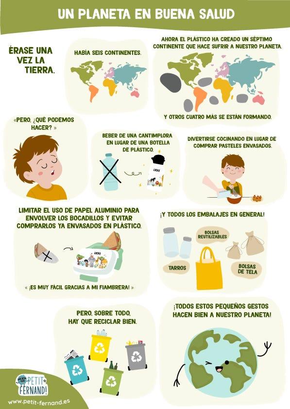 Encuentra nuestra viñeta con algunos consejos para mantener nuestro planeta en buena salud.