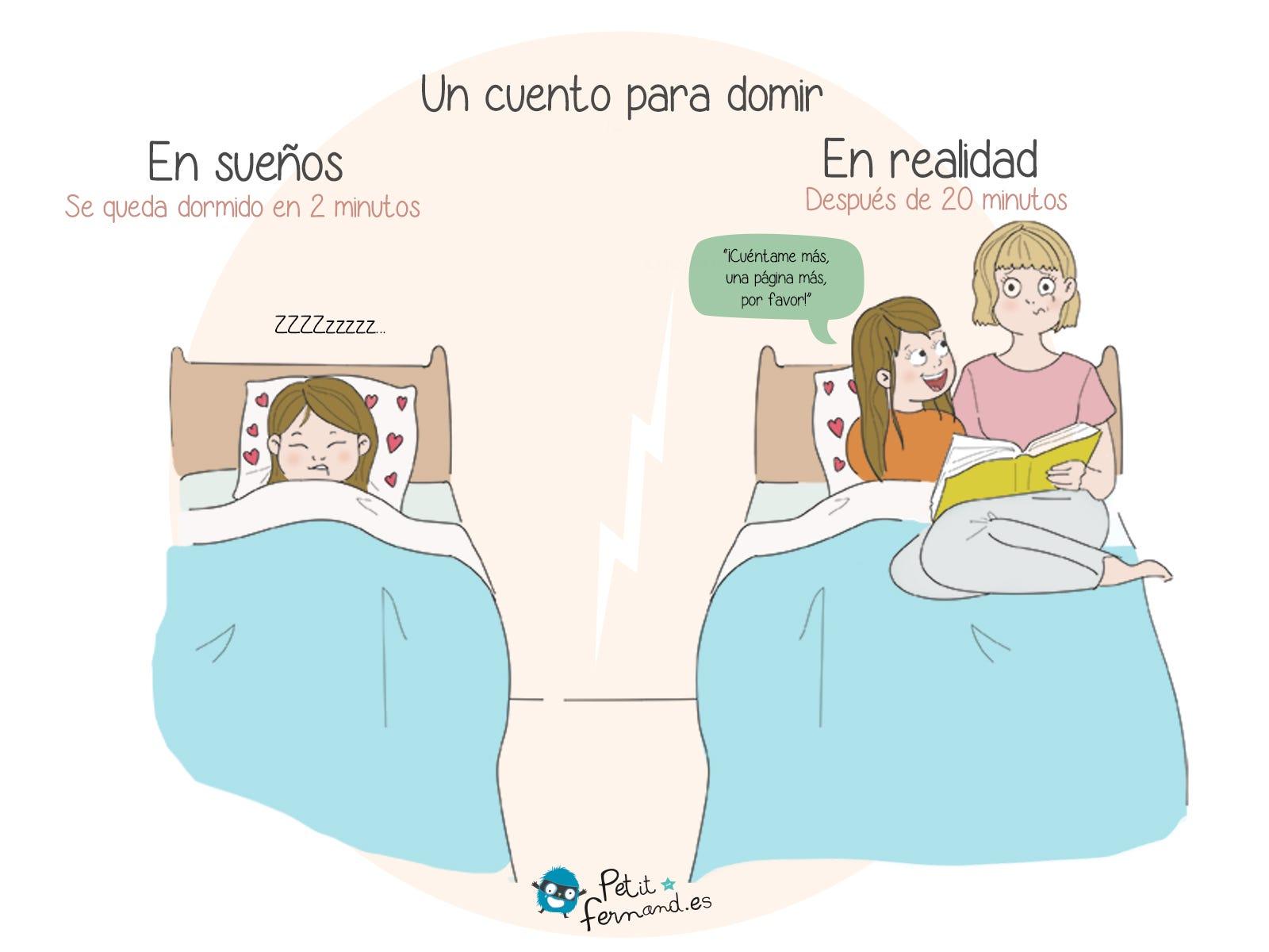 ¡Todos los padres saben que el famoso cuento para dormir puede durar mucho tiempo!