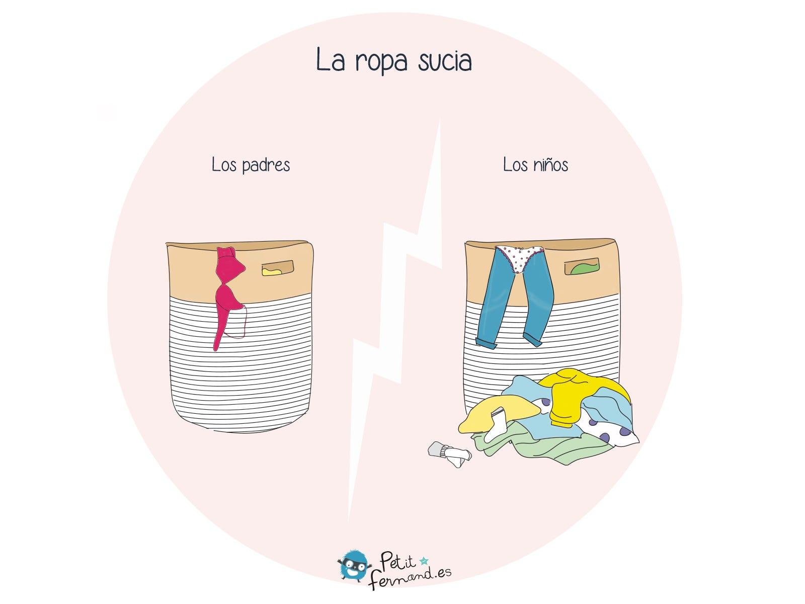 Los padres y los niños tienen dos visiones diferentes de la ropa sucia. Encuentren todos nuestros toques de humor en el blog.