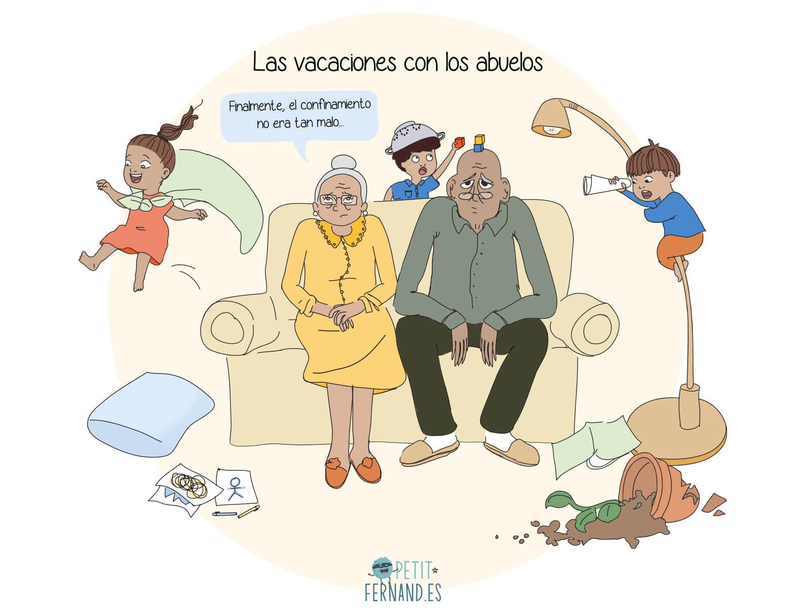 ¡Las vacaciones de los peques no serían lo mismo sin los abuelos!