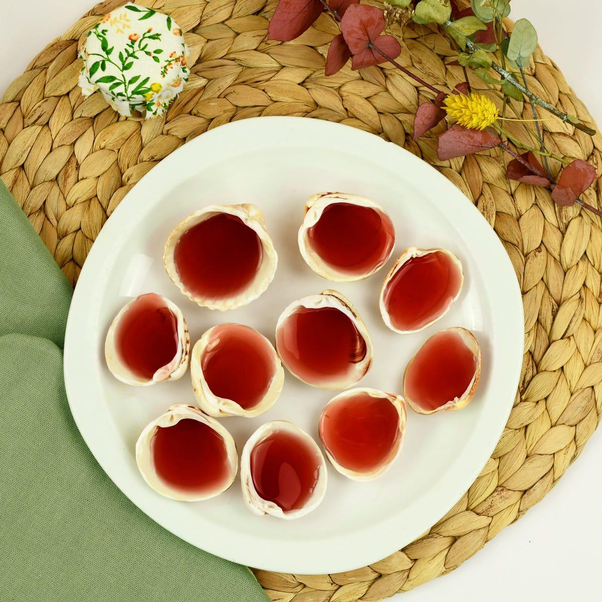 ¡Descubre la receta de cazuelitas caramelo roudoudou con conchas de mar!